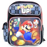 "Nintendo Super Mario 12"" School Backpack Medium Size Boys Book Bag - Power Up"