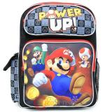 "Nintendo Super Mario Large School Backpack 16"" Book Bag -Power Up"