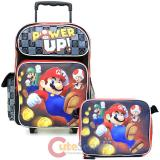 Nintendo Super Mario Large Roller Backpack with Lunch Bag 2pc Set - Power Up
