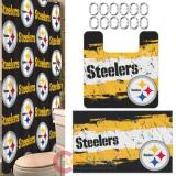 NFL Pittsburgh Steelers 15pc Bathroom Rug and Shower Curtain Bath Set