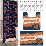 NFL Chicago Bears 15pc Bathroom Rug and Shower Curtain Bath Set