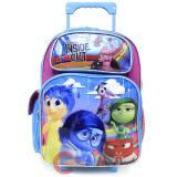 "Disney Inside Out Large  School Roller Backpack 16"" Rolling Bag-Emotion Rain"