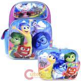 """Disney Inside Out  16""""  Large School Backpack Lunch Bag 2pc Set  -Emotion Rain"""