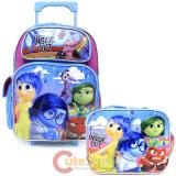 Disney Inside Out   Large  School  Roller Backpack with Lunch Bag Set- Emotion Rain