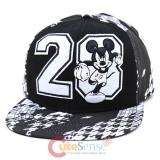 Disney Mickey Mouse Flok Emblem  Sanpback Hat Trucker Flat Bill Cap