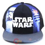 Star Wras Kids Hat Adjustable Mesh Snap Back - Logo