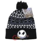 Nightmare Before Christmas Jack Intarsia Cuff Pom Beanie (Teen-Adult)