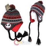 The Nightmare Before Christmas Jack Faces Laplander Hat Beanie with Furry Ball