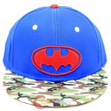 DC Comic Batman Camo Royal Sanpback Hat Trucker Flat Bill Cap