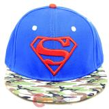 DC Comic Superman Camo Royal Sanpback Hat Trucker Flat Bill Cap