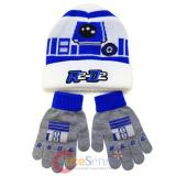 Star Wars R2D2 Cuff Beanie Hat Gloves Set -Youth Size