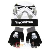 Star Wars Stom Tropper Cuff Beanie Hat Gloves Set -Youth Size