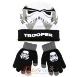 Star Wars Stom Tropper Cuff Beanie Hat Gloves Set -Youth Size