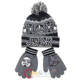 Star WarsCuff Beanie Hat Gloves Set - Darth Vader Stom Tropper Youth