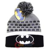 DC Comic Batman Bat Logo Cuff Pom Beanie (Teen-Adult)