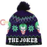 DC Comic Joker Intarsia Cuff Pom Beanie (Teen-Adult)
