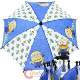 Despicable Me Kids Umbrella with 3D Minion Figure - Blue