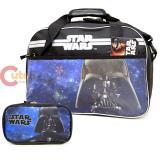 "Star Wars Darth Vader Duffel Bag  Travel  Gym 17"" Bag with Travel Case 2pc Set"