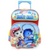 "Disney Sheriff Callie Wide West Large School Roller Backpack 16"" Trolley Rolling Bag"
