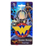 DC Comics Wonder Woman Full Colored Logo Metal Key Chain Pewter 3D
