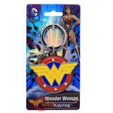 DC Comics Wonder Woman Full Colored Logo Metal Key Chain Pewter 3D