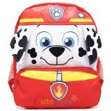 "Paw Patrol Marshall 12"" School Backpack 3D Big Face Canvas Bag"