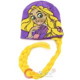 Disney Princess Rapunzel Tangled  Face Beanie Hat with Hair Wig