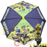 TMNT Ninja Turtles Kids Umbrella  with 3D Figure Handle - Turtle Power