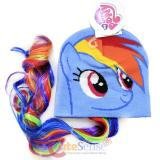 My Little Pony Rainbow Dash  Face Beanie Hat with Hair Wig
