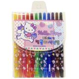 Sanrio Hello kitty Twist Up Coloring Pencil  12pc  Pen Crayon Set