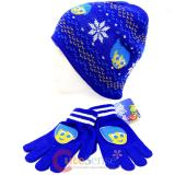 Disney Insideout Joy Beanie Snow Flakes Knitted Hat Gloves Set