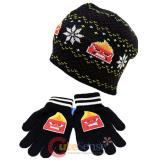 Disney Insideout Anger Beanie Snow Flakes Knitted Hat Gloves Set