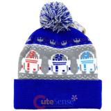Star Wars R2D2 Cuff Beanie Knitted Hat with Pom