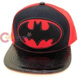 DC Comic Batman Shield Twill Applique Sanpback Hat Trucker Flat Bill Cap