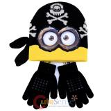 Despicabel Me Movie Pirate Minions Beanie Gloves Set