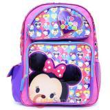 "Disney Tsum Tsum 16"" School Backpack Large Book Bag"