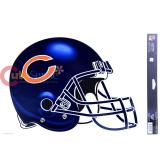 NFL Chicago Bears Auto Window Decal  Cling Team Helmet Logo
