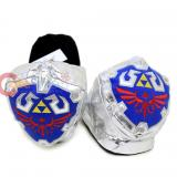 Nintendo Legend of Zelda 3D Shield Plush Slippers Adults Size -Medium
