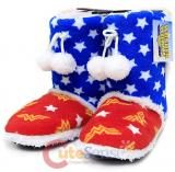DC Comics Wonder Woman Boot Slippers Womens Size -Medium