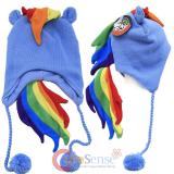 My Little Pony Rainbow Dash Laplander Beanie with Tassels