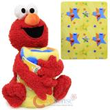 Sesame Street Elmo Fleece Throw Blanket with Plush Doll Pillow Set
