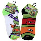 TMNT Teenage Mutant Ninja Turtles 2 Pair Anklets  Socks Set : Large