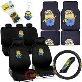 Despicable Me Minion Car Seat Covers Auto Accessories Set with Carpet Mat