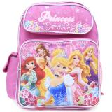 Disney Princess with Tangled School Backpack 14in Medium Bag Floral pink