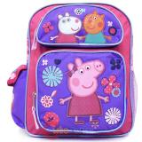 "Peppa Pig Medium School Backpack 12"" Girls Bag with Friends"