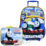 Thomas Tank Engine & Friends Large School Roller Backpack Lunch Bag 2pc Set
