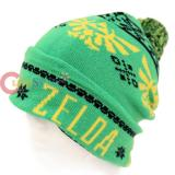 The Legend Of Zelda Cuff Beanie Intarsia Hat Fair Isle Pom (Teen-Adult)