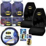 DC Comics Batman Logo Car Seat Covers Accessories Complete 10PC Set