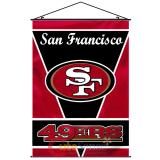 "San Francisco 49ers  Banner NFL Fabric Wall Scroll 28""x40"""