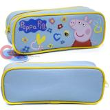 Nick Jr Peppa Pig Zippered  Pencil Case Pouch Bag - Blue